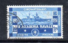 W677 - REGNO 1931 , 1,25 Cent N. 302  Usato .  Accademia Livorno - Usati
