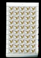 Belgie Buzin 2985 Birds 0.50Fr/0.01€ Volledig Vel Plaatnummer 2 Bande Datée Datumstrook PAAR 18/1/2001 - 1985-.. Birds (Buzin)