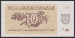 Lithuania 10 Talonas 1992 UNC - Lituania