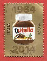 ITALIA REPUBBLICA USATO - 2014 - 50º Anniversario Della Nutella - € 0,70 - S. 3477 - 2011-...: Afgestempeld