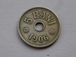 Roumanie  5 BANI 1906 J   Km# 31      Carol I   Cupronickel     Ttb - Rumania