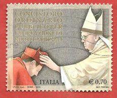 ITALIA REPUBBLICA USATO - 2014 - Concistoro Ordinario Pubblico Per La Creazione Di Nuovi Cardinali - € 0,70 - S. 3458 - 2011-...: Afgestempeld