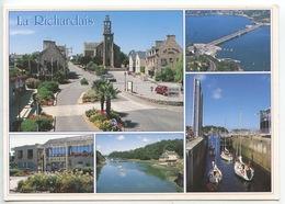 Le Richardais : Bourgg Mairie église Anse Usine Marémotrice écluse (cp Vierge) - Other Municipalities