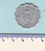 Monnaie Necessité Perpignan (66) Pyrénées Orientales .. 25c Chambre De Scommercants 1921 3° Emission Aluminium - Monetary / Of Necessity