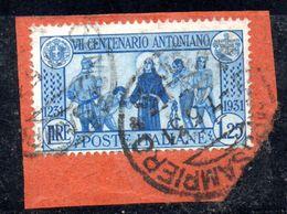 W952 - REGNO 1931 ,  1,25 Cent N. 297  Usato .  S. Antonio - Usati