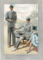 """4 Gravures De MODE  HOMMES """"THE MODERN STYLE"""" 1936. Format 28/39cm. - Textile & Vestimentaire"""