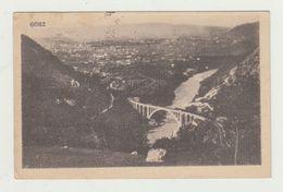 GORIZIA - PAESAGGIO CON PONTE POSTA MILITARE 53 - 14.01.1919 - AFFRANCATURA 5+5 CENT SOVRASTAMPA VENEZIA GIULIA - CARD - Gorizia