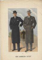 """4 Gravures De MODE  HOMMES """"THE MODERN STYLE"""" 1934. Bordures En L'état Mais Images Centrales En TBE 32/44cm. - Textile & Vestimentaire"""