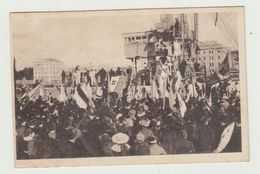 SEBENICO - DIMOSTRAZIONI ALLE TORPEDINIERE ITALIANE - 1919 -AFFRANCATA 10 CENT . SOVRASTAMPA 10 CENT DI CORONA - CENSURA - Croazia