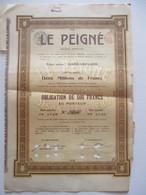 Le Peigné - Dison-Verviers - Obligation De 500 Francs - Textile