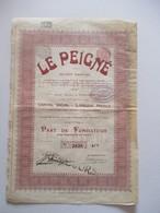 Le Peigné - Dison-Verviers - Part De Fondateur - Textiel
