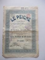 Le Peigné - Dison-Verviers - Action Privilégiée De 500 Francs - Capital 2 000 000 - Textiel