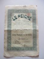 Le Peigné - Dison-Verviers - Action Privilégiée De 500 Francs - Capital 10 000 000 - Textile