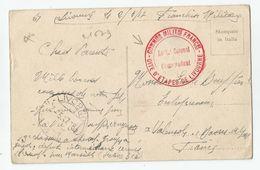 Marcophilie - 1917  Cachet Rouge Gite D'étapes De Livourne Commission Militaire Française Livorno Italia Italie Italy - Marcophilie (Lettres)