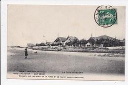 CPA 33 ARCACHON CAP FERRET Chalets Sur Les Bords De La Plage Et Le Phare - Arcachon