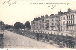 *** 10  ***  TROYES  Quai Des Comtes De Champagne -  écrite TTB - Troyes