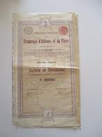 Tramways D'Athènes Et Du Pirée - Action De Dividende - Version 1907 - Transports