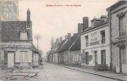 """¤¤    -   ARROU  -   Rue De L'Egalité  -  Café De La Place """" BOUSSARD """"    -  ¤¤ - France"""