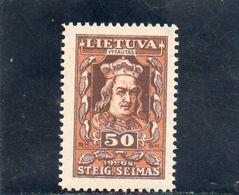 LITUANIE 1920 * - Lituanie