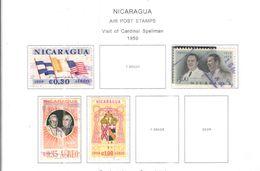 Nicaragua PA 1959 Visita Card.Splellman   Scott.C430+431+432+436+ NuoviUsed  See Scans On Scott.Album+ - Nicaragua