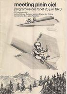 Bex - Programme Du Meeting Des 27 Et 28 Juin 1970 - Programs