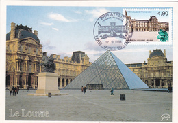 Carte-Maximum FRANCE N° Yvert 3174 (LOUVRE) Obl Sp Ill  1er Jour Musée Du Louvre (Ed Guy) - 1990-99