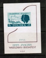 POLAND  Scott # B 106** VF MINT NH IMPERFORATE SOUVENIR SHEET Of 1 LG-480 - Blocks & Sheetlets & Panes