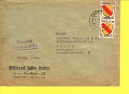 GERMANIA  - OCCUPAZIONE FRANCESE 1946 - BUSTA    VIAGGIATA  PER  TRIER 1946 - Zone Française