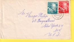 GERMANIA  - Deutschland 1949 - Apertura  Del Parlamento - Serie Su Busta Viaggiata 1949 Per New York - [7] République Fédérale
