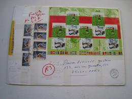 1 Lr Grand Format  Avec B F N°49 (2002)  Avec  N° 3483/3484  + 7 Autoadhésifs N° 34 ...le 20 /10 /2004..... à Voir..... - 1961-....