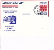 5104 - Entier Postal Institut Pasteur  Repiqué Bressuire - Postal Stamped Stationery