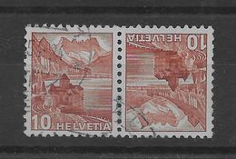 Tete Beche De Suiza Nº Zumstein K-37 O - Tete Beche