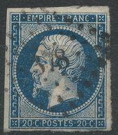 Lot N°40714   N°14Ab Bleu Noir, Oblit PC 378 Besançon, Doubs (24) - 1853-1860 Napoléon III