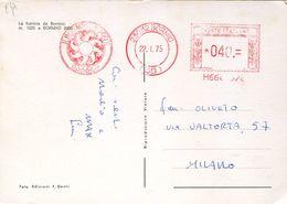 30797 Italia, Red Meter Freistempel Ema, Bormio 1975  Bormio 2000 - Machine Stamps (ATM)