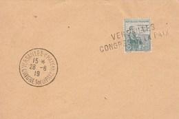 Yvert 149 Orphelins De Guerre Cachet Manuel Congrès De La Paix Versailles 28/6/1919 + Griffe 5 X 1 Cm - Marcophilie (Lettres)