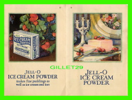 LIVRE DE CUISISNE - JELL-O ICE CREAM POWDER - 4 PAGES - - Cooking, Food, Wine