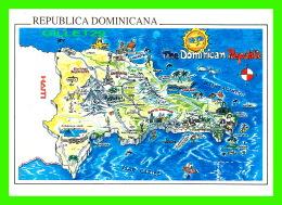 MAPS - CARTES GÉOGRAPHIQUES - THE DOMINICAN REPUBLIC - CARIBE LINE - - Cartes Géographiques