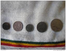 Haile Selassie 1923 EE = 1930/31 (5 Coins) AUNC - Ethiopia