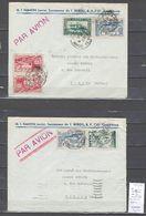 Maroc - Lettre Avion  De Casablanca Pour Tarare - 1939 - 2 Piéces - Marokko (1891-1956)