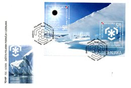 CROATIE. BF 35 De 2009 Sur Enveloppe 1er Jour. Protection Des Zones Polaires. - Preservare Le Regioni Polari E Ghiacciai
