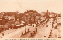 CASABLANCA   BOULEVARD DU 4e ZOUAVE ET PLACE DE FRANCE  (scan Recto-verso) KEVREN0394 - Casablanca