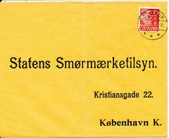 Denmark Cover Sent To Copenhagen Ollerup 14-5-1940 Single Franked (bended Cover) - Covers & Documents