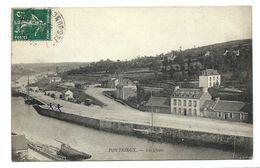 PONTRIEUX - Les QUAIS 1907 - Pontrieux