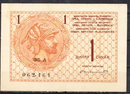 1 DINAR 1919 - SERBIA CROATIA SLOVENIA - Jugoslawien