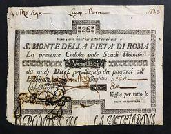 SACRO MONTE DI PIETA' ROMA 01 08 1796 26 SCUDI  BB+ LOTTO 732 - Italia