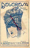 PARTITION MUSIQUE- DOLOROSA -FOX TROT- E. DUMONT -BENECH-PARIS- ILLUSTRATEUR J. JAMEL -FEMME AU TURBAN -1925I - Partitions Musicales Anciennes