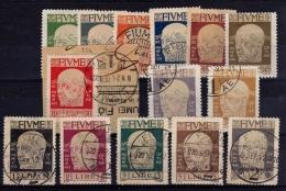 FIUME Serie 113/126 Usata - 8. WW I Occupation