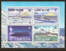 Gibraltar 1995 Yvertnr Bloc 21 *** MNH   Cote 11,00 Euro  Navires De Guerre Boten Ships - Gibilterra