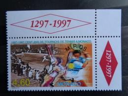 MONACO 1997 Y&T N° 2110 ** - 100 ANS DE TOURNOI DE TENNIS AVEC NOM DU VAINQUEUR M. RIOS - Nuevos