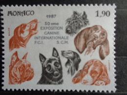 MONACO 1987 Y&T N° 1575 & 1576 ** - 50e EXPOSITION CANINE INTERN. - Neufs